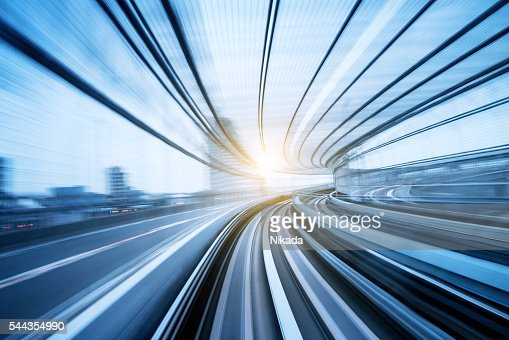 Speed motion through a tunnel