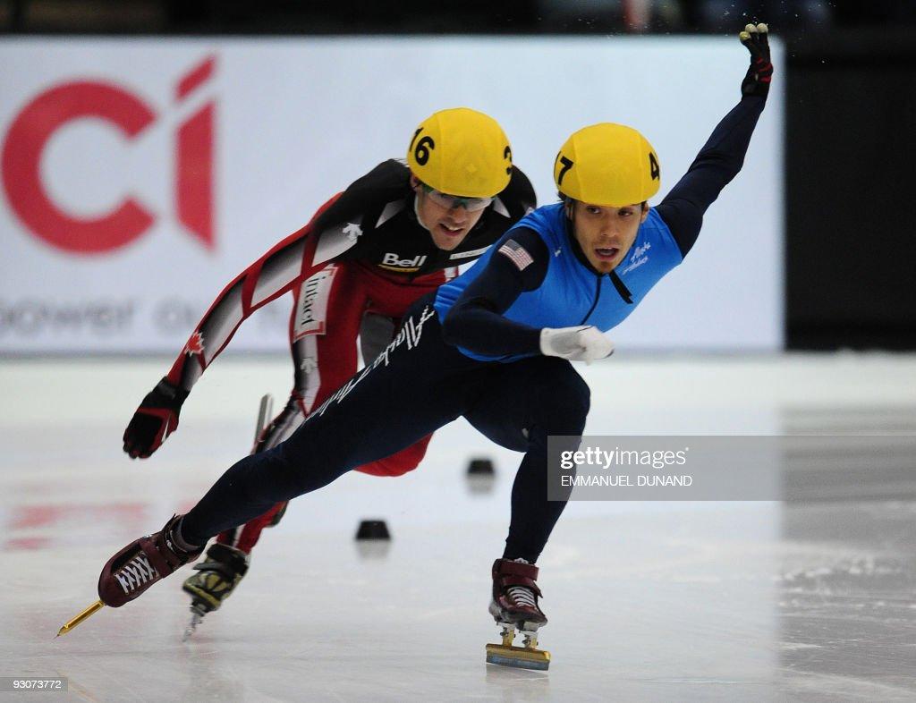US speed skater Apolo Anton Ohno leads on his way to win ...