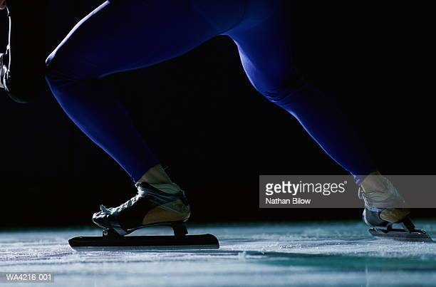 Speed skater, low section, close-up