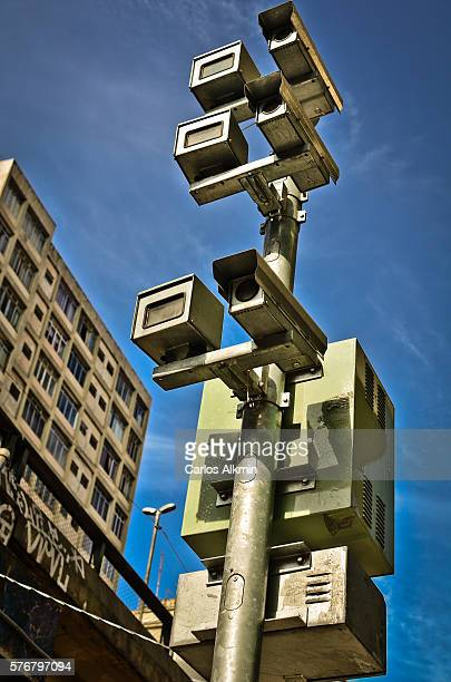 Speed surveillance cameras in Sao Paulo