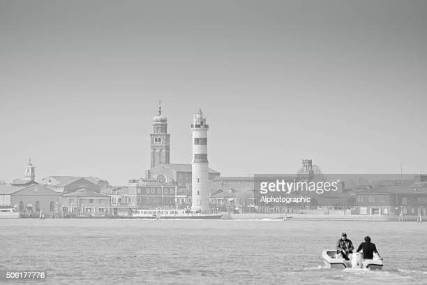 Schnellboot auf die Lagune von Venedig