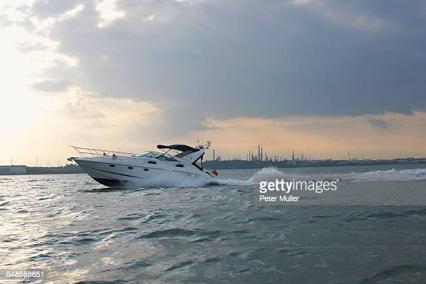 Speedboat on water