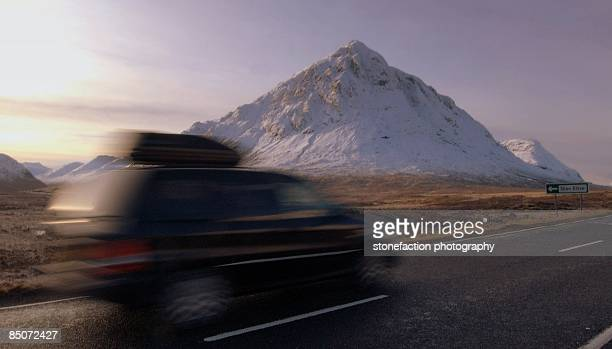Speeding By Buachaille Etive Mor.