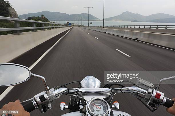 Speeding Motorcycle Ride