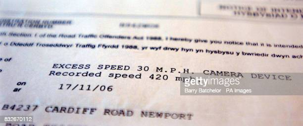 Speeding notice at 420mph issued to taxi driver Tom Matthews aged 38 in Newport south Wales