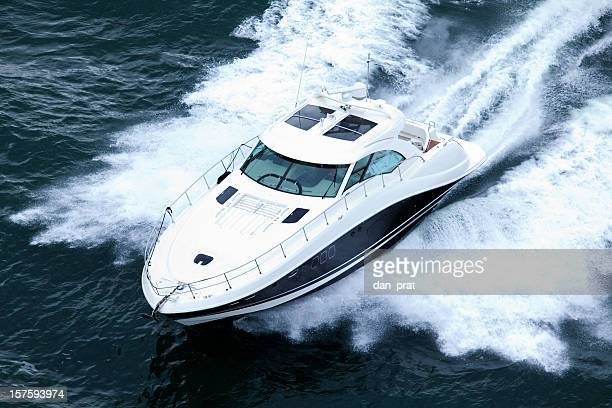 Speeding Powerboat