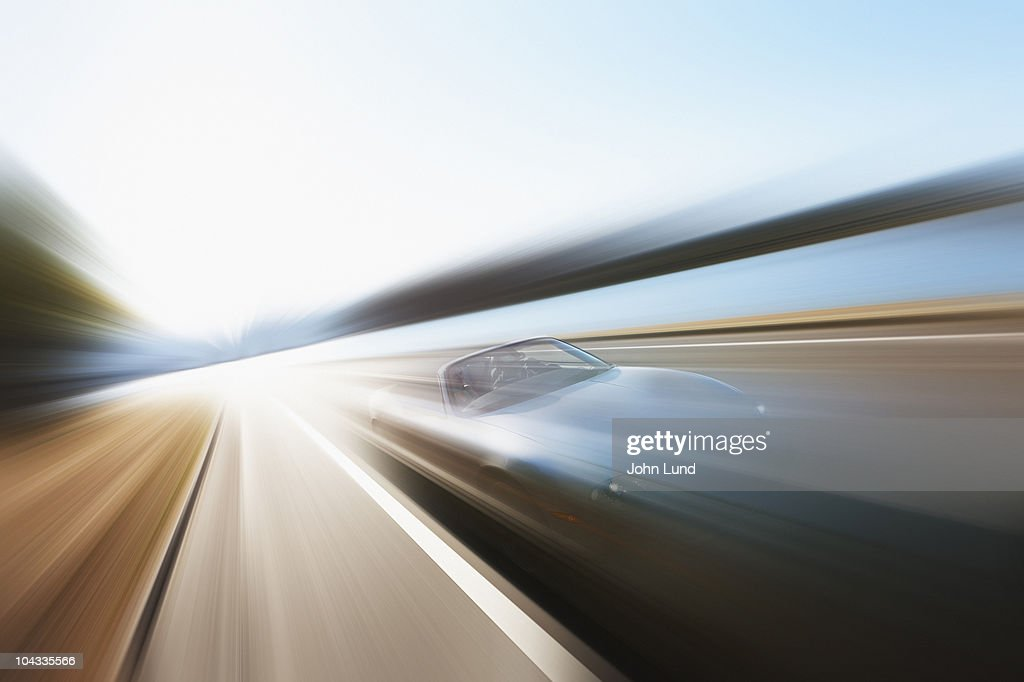 Speeding Sports Car Convertible : Stock Photo