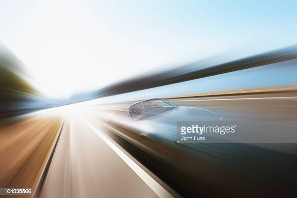 Speeding Sports Car Convertible