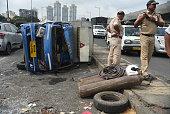 IND: Four Injured As Speeding Tempo Collides With Autorickshaw, Bike On Western Express Highway