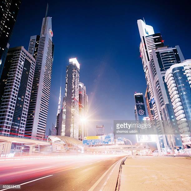 Speeding traffic on Sheikh Zayed Road