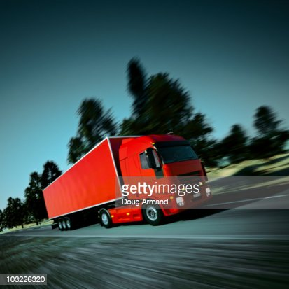 Speeding Truck : Stock Photo