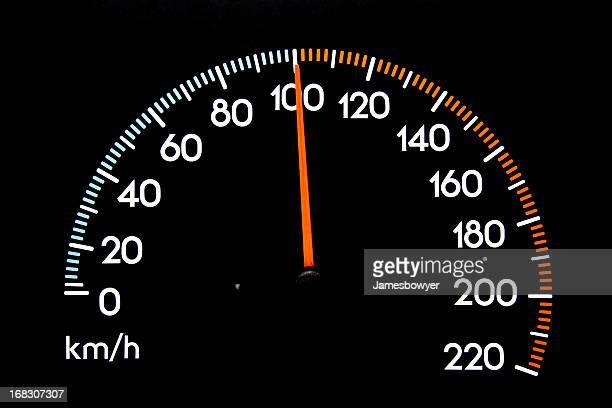 Compteur de vitesse de 100 kmh