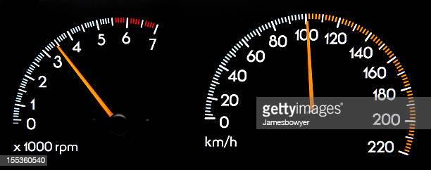 Tachometer 100 kmh-speleology