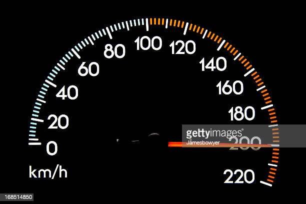 Compteur de vitesse de 200 kmh
