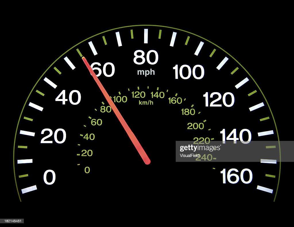 Speedometer at 55 mph