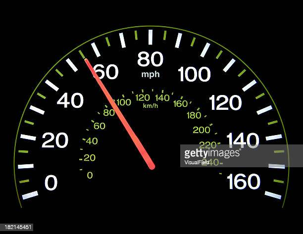Speedometer at 55 mph