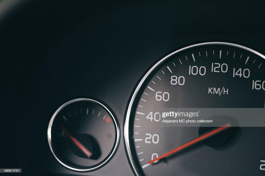 Speedometer velocimeter car dashboard