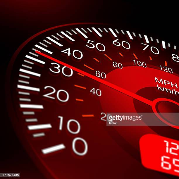 Speedometer with Red Dashboard-Vehicle Speed Meter
