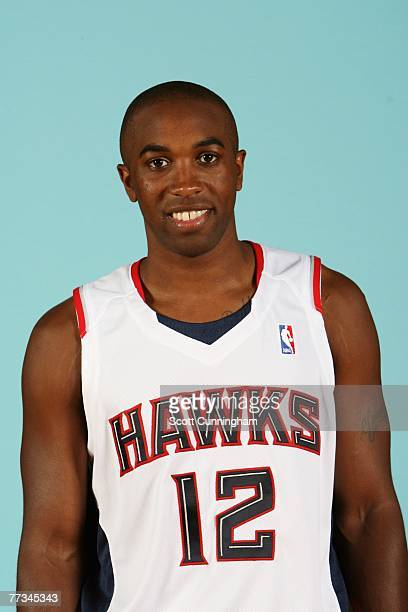 Speedy Claxton of the Atlanta Hawks poses for a portrait during NBA Media Day at Philips Arena on October 1 2007 in Atlanta Georgia NOTE TO USER User...