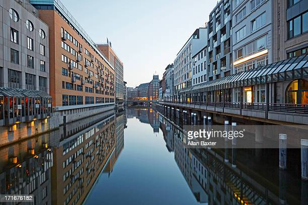 Speicherstadt district of Hamburg