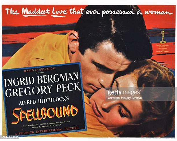 'Spellbound' a 1945 American psychological mystery thriller film starring Ingrid Bergman and Gregory Peck