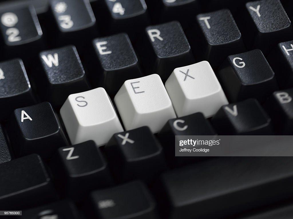 SEX Spelled on Keyboard : Stock Photo