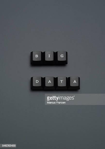 'BIG DATA' spelled out on keyboard keys on grey