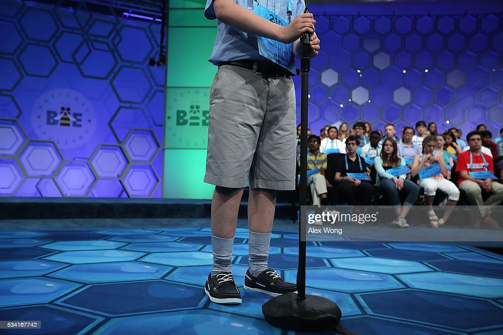 Spellers participate in round two of the 2016 Scripps National Spelling Bee May 25, 2016 in National Harbor, Maryland. Students from across the country gathered to compete for the top honor at the annual spelling championship.