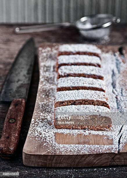 Spelt flour, hazelnut and chocolate biscotti