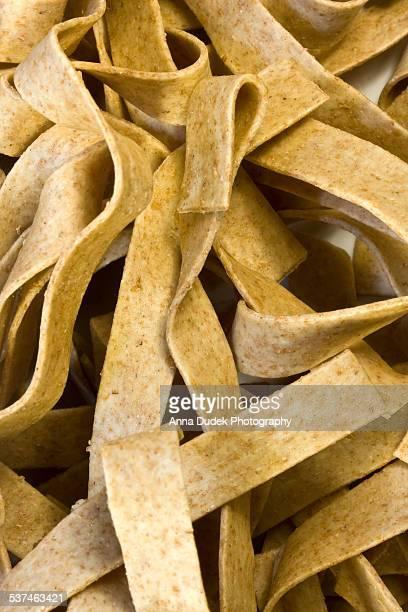 Spelt pasta closeup