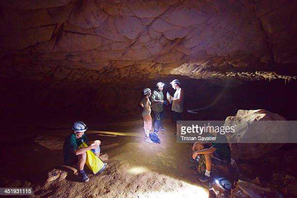 CONTENT] Spelunkers with their guides in the Clearwater cave system in Gunung Mulu National Park Parts of this natural cave system can be visited...