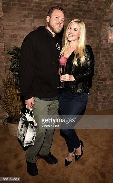 Spencer and Heidi Pratt attend Brody Jenner And Kaitlynn Carter's Engagement Dinner at Roku on May 20 2016 in West Hollywood California