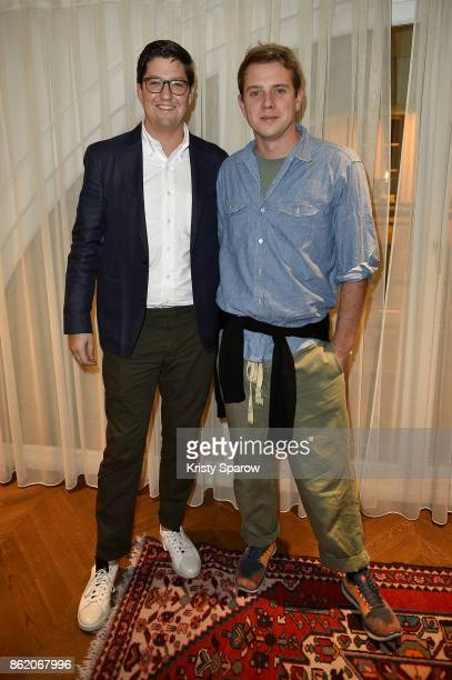 Spencer Bailey and Jonathan Anderson attend the Surface Magazine Fall Fashion Issue 2017 Presentation on October 16 2017 in Paris France