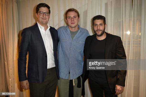 Spencer Bailey Jonathan Anderson and Marc Lotenberg attend the Surface Magazine Fall Fashion Issue 2017 Presentation on October 16 2017 in Paris...
