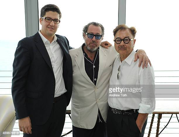 Spencer Bailey Julian Schnabel and Michael Chow attend Design Dialogue hosted by SURFACE magazine at OCHO at Soho Beach House on December 4 2014 in...