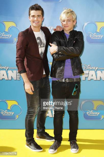 Spencer Boldman and Ross Lynch arrives at the Australian premiere of 'Teen Beach Movie' at The Entertainment Quarter on August 4 2013 in Sydney...