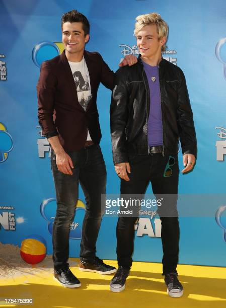 Spencer Boldman and Ross Lynch attend the Australian premiere of The Disney Channel's 'Teen Beach Movie' on August 4 2013 in Sydney Australia