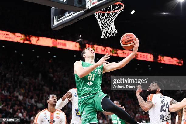 Spencer Butterfield of Nanterre during the Final of the French Cup between Le Mans and JSF Nanterre at AccorHotels Arena on April 22 2017 in Paris...