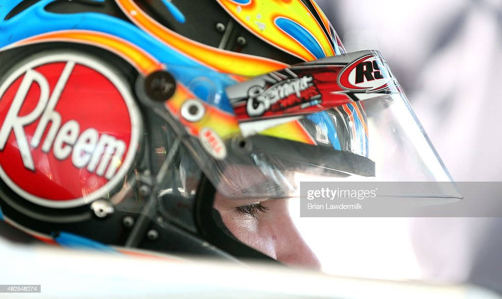 <a gi-track='captionPersonalityLinkClicked' href=/galleries/search?phrase=Spencer+Davis&family=editorial&specificpeople=929463 ng-click='$event.stopPropagation()'>Spencer Davis</a>, driver of the #20 Ruud Chevroley, during practice for the NASCAR K&N Pro Series #ThanksKenney 150 race, at Iowa Speedway on July 31, 2015 in Newton, Iowa.