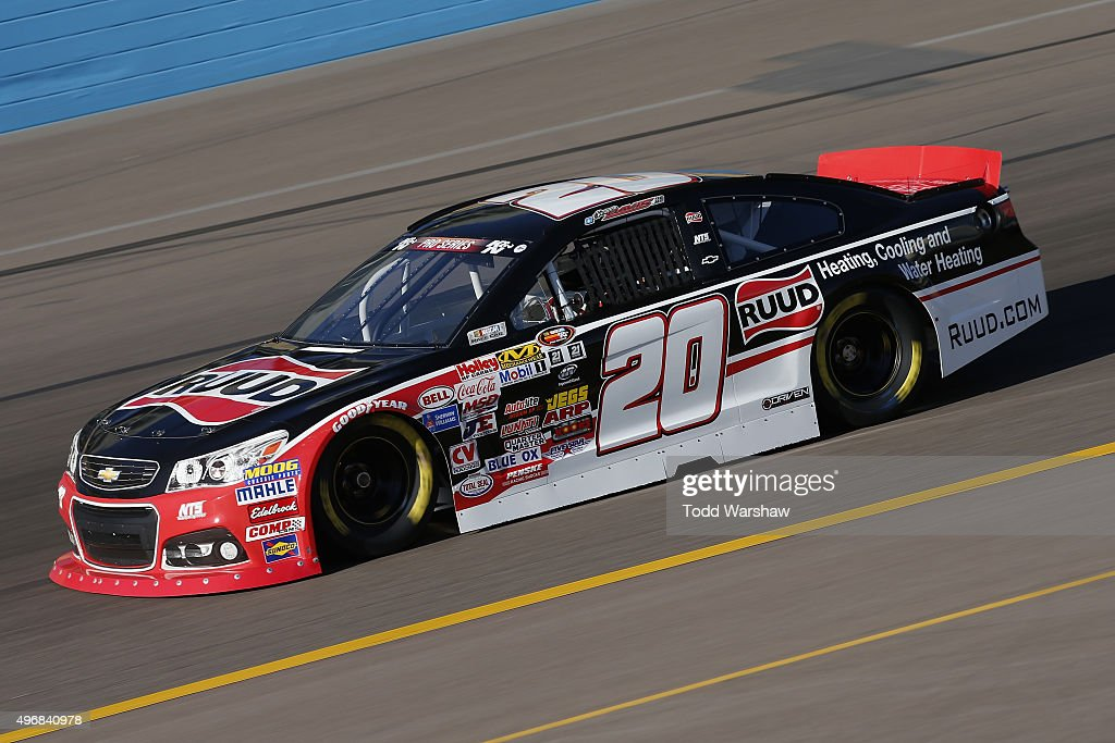 <a gi-track='captionPersonalityLinkClicked' href=/galleries/search?phrase=Spencer+Davis&family=editorial&specificpeople=929463 ng-click='$event.stopPropagation()'>Spencer Davis</a> drives the #20 Ruud Chevrolet during practice for the NASCAR K&N Pro Series West Casino Arizona 100 at Phoenix International Raceway on November 12, 2015 in Avondale, Arizona.