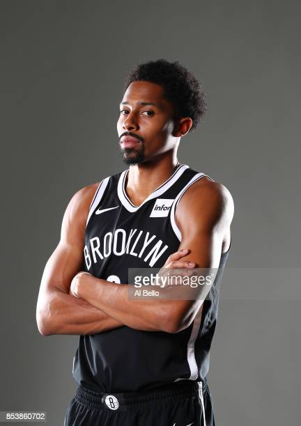 Spencer Dinwiddie of the Brooklyn Nets poses for a portrait during Media Day at HSS Training Center on September 25 2017 in the Brooklyn Borough of...