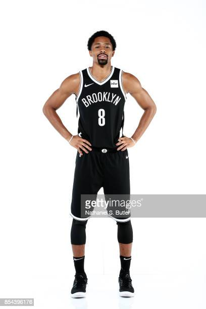 Spencer Dinwiddie of the Brooklyn Nets poses for a portrait during the 20172018 Brooklyn Nets Media Day at the Hospital for Special Surgery Training...