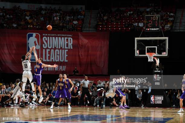 Spencer Dinwiddie of the Brooklyn Nets shoots the ball during the game against the Los Angeles Lakers during the Quarterfinals of the 2017 Las Vegas...