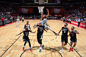 Spencer Dinwiddie of the Chicago Bulls shoots the ball against the Minnesota Timberwolves during the 2016 NBA Las Vegas Summer League game on July 18...