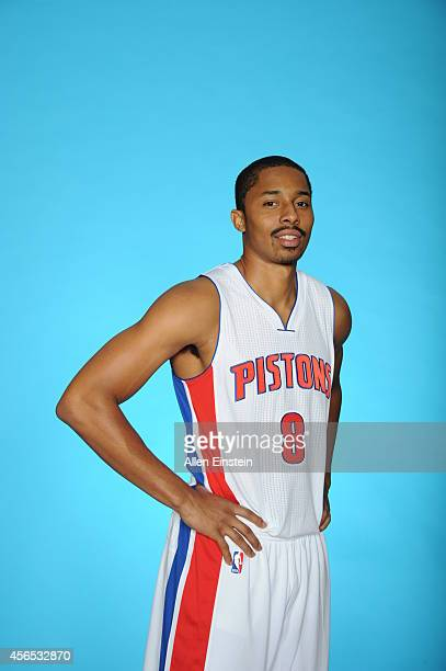 Spencer Dinwiddie of the Detroit Pistons poses for a portrait during Detroit Pistons Media Day on September 29 2014 at The Palace of Auburn Hills in...