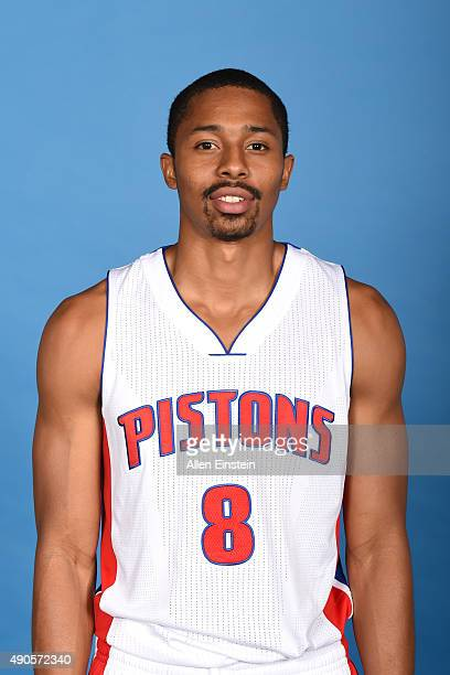 Spencer Dinwiddie of the Detroit Pistons poses for a portrait during media day on September 28 2015 at The Palace of Auburn Hills in Auburn Hills...