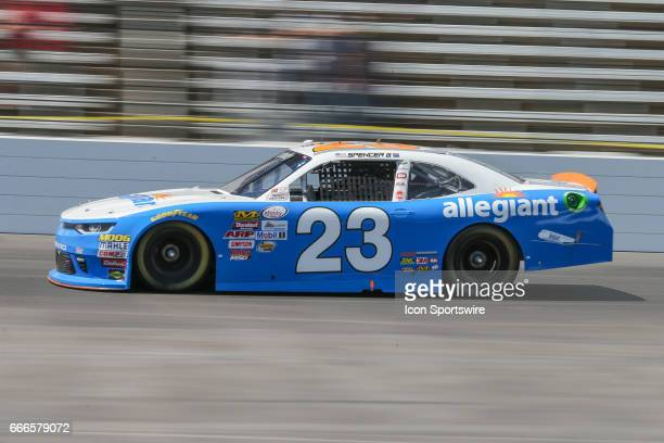Spencer Gallagher drives along the front stretch during the My Bariatric Solutions NASCAR Xfinity Series race on April 8 2017 at Texas Motor Speedway...