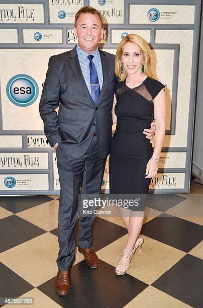 Spencer Garrett and Dana Bash attend the Capitol File's WHCD Welcome Reception at The British Embassy on May 2 2014 in Washington DC