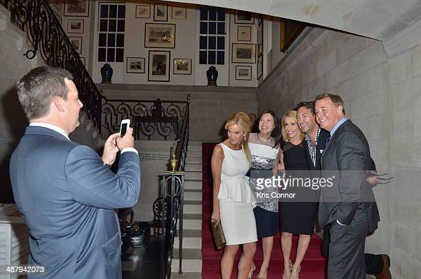 Spencer Garrett Ed Henry Shirly Henry Susanna Quinn Dana Bash and guest attend the Capitol File's WHCD Welcome Reception at The British Embassy on...
