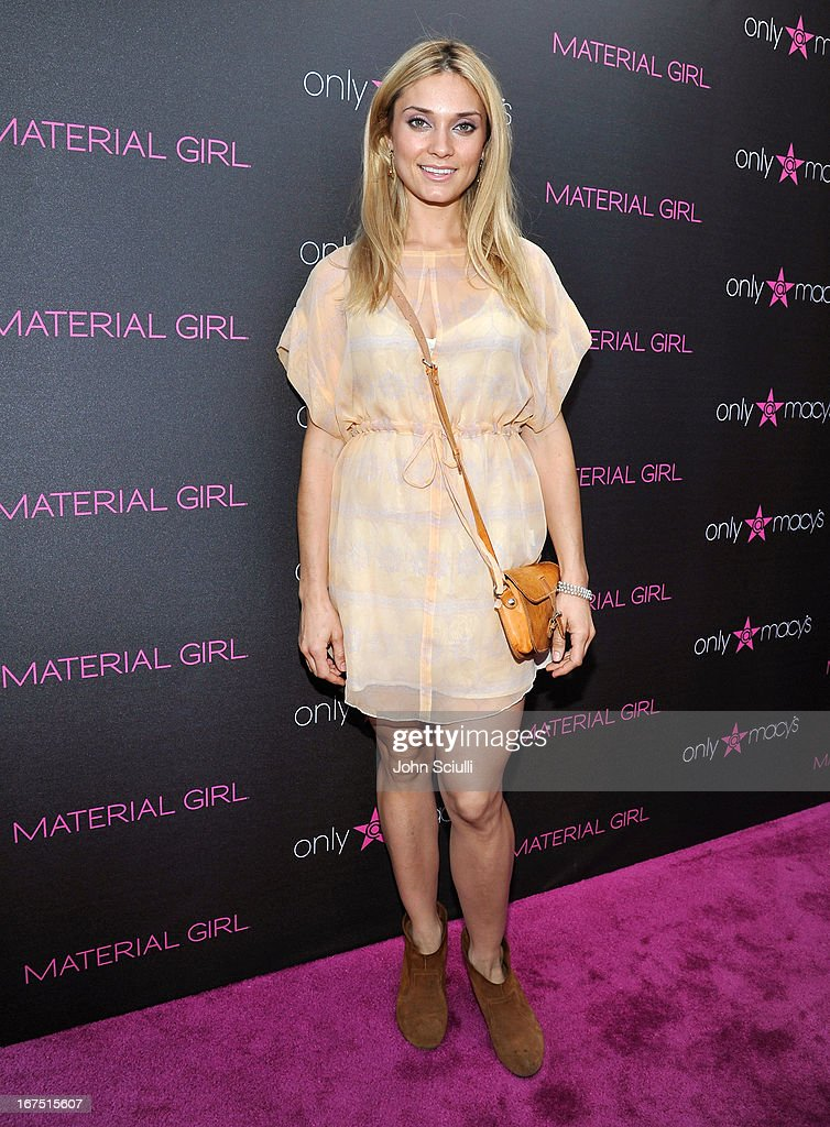 Spencer Grammer attends Madonna's 'Fashion Evolution' Pop-Up Exhibit, hosted by Material Girl at Macy's Westfield Century City on April 25, 2013 in Century City, California.